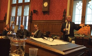 Phil Weaver presenting research results at the House of Commons, January 2015